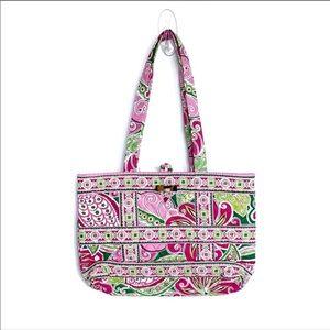 Vera Bradley Pinwheel Pink Tic Tac Toggle Tote Bag